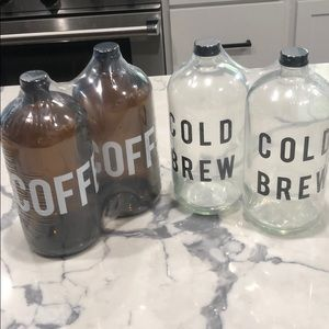 Target glass coffee and cold brew bottles 4 total